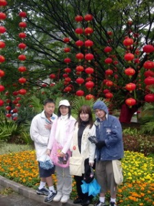 Me and my 3 children in Guilin, China (March 2008)